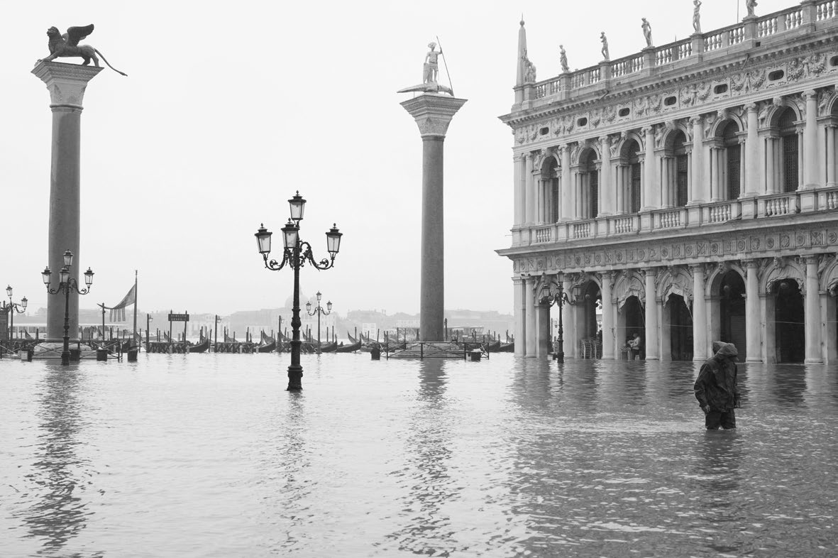 Venetië, San Marco plein, acqua alta november 2019 (Alamy Stock Photo / Carlo Morucchio)